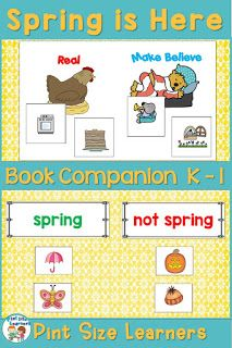 Spring is Here Book Study Unit and Lesson Plans   Center Activities & Workshe…