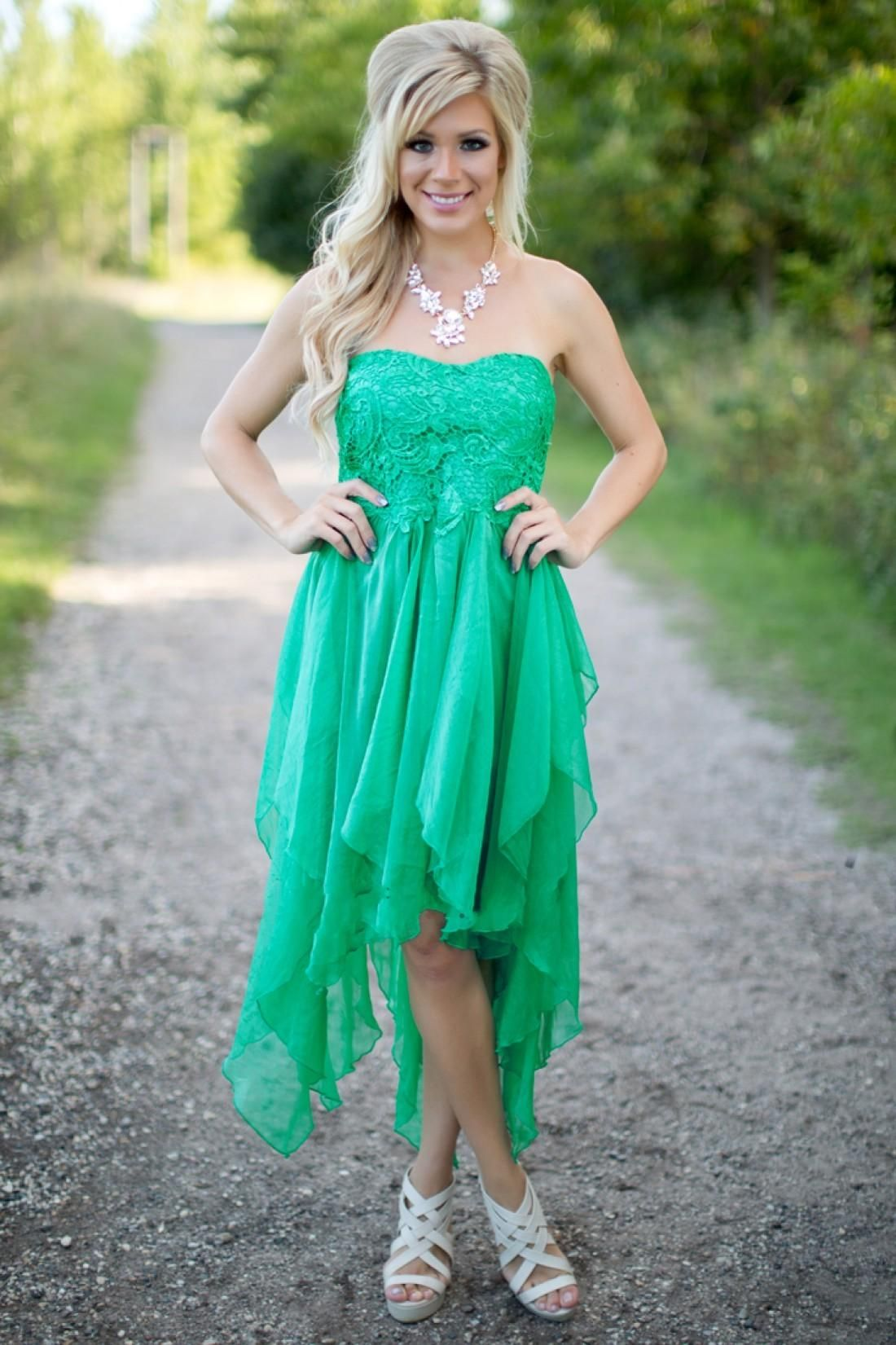2016 New Cheap Country Green Bridesmaid Dresses Sweetheart