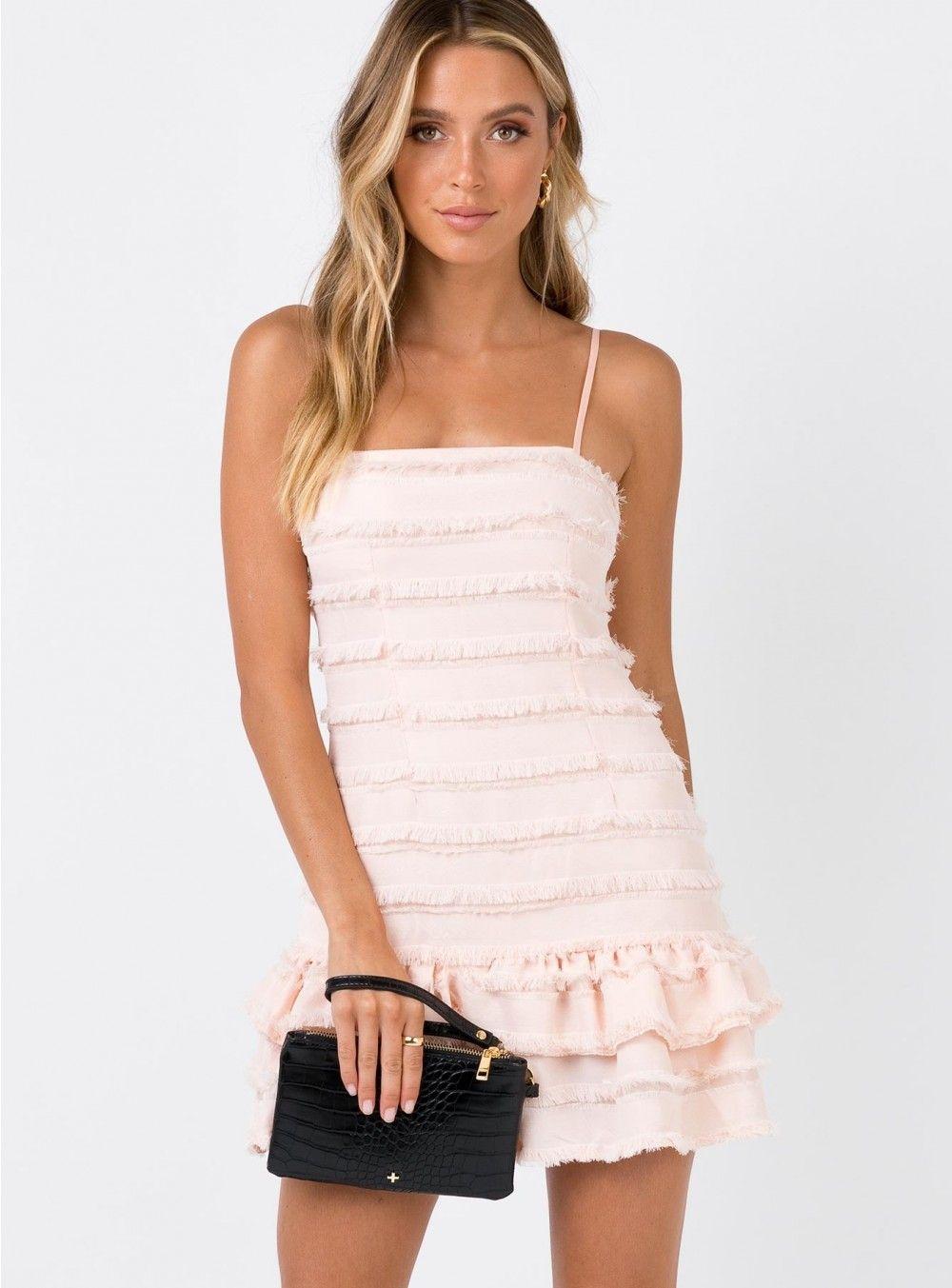 Molina Mini Dress Blush   Mini dress, Polly dress, Fashion