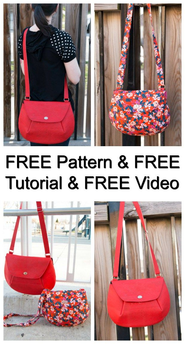 How To Make A Crossbody Bag - FREE Pattern, FREE Tutorial AND FREE Video #bagsewingpatterns