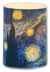 Van Gogh Starry Night LED Candle