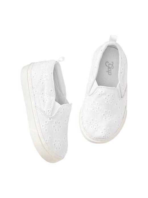 white slip on shoes for kids