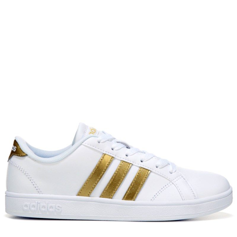 adidas bambini della scuola elementare di scarpe da ginnastica basali pre / scarpe (bianco