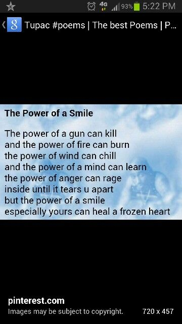 The Power Of A Smile Tupac Shakur Pinterest Quotes Quotations