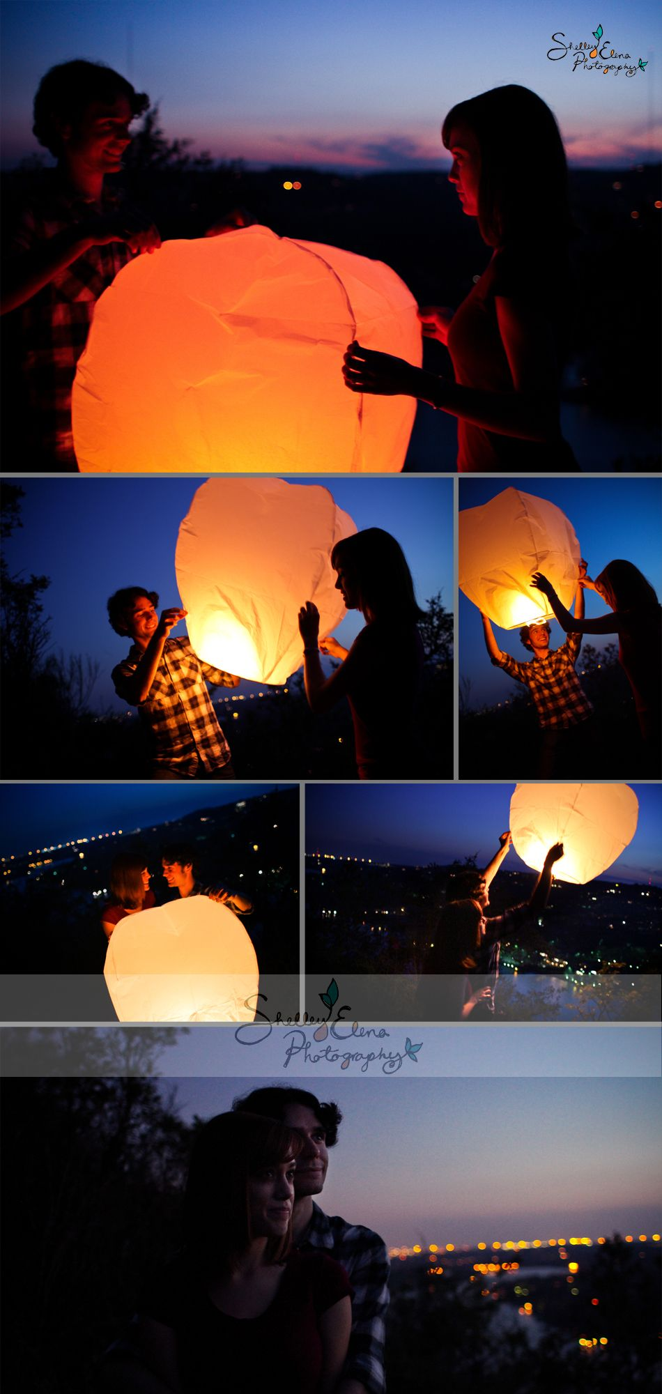 Engagement session- Inspired by the movie Tangled...this couple released a floating lantern!
