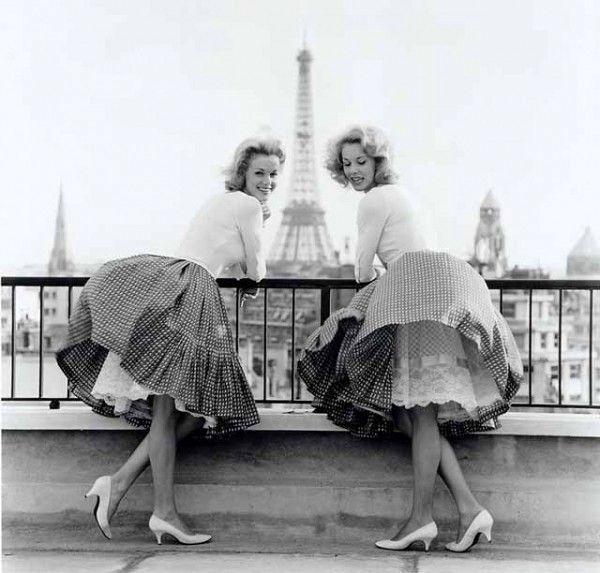 Kessler's sisters Paris 1960 #vintage