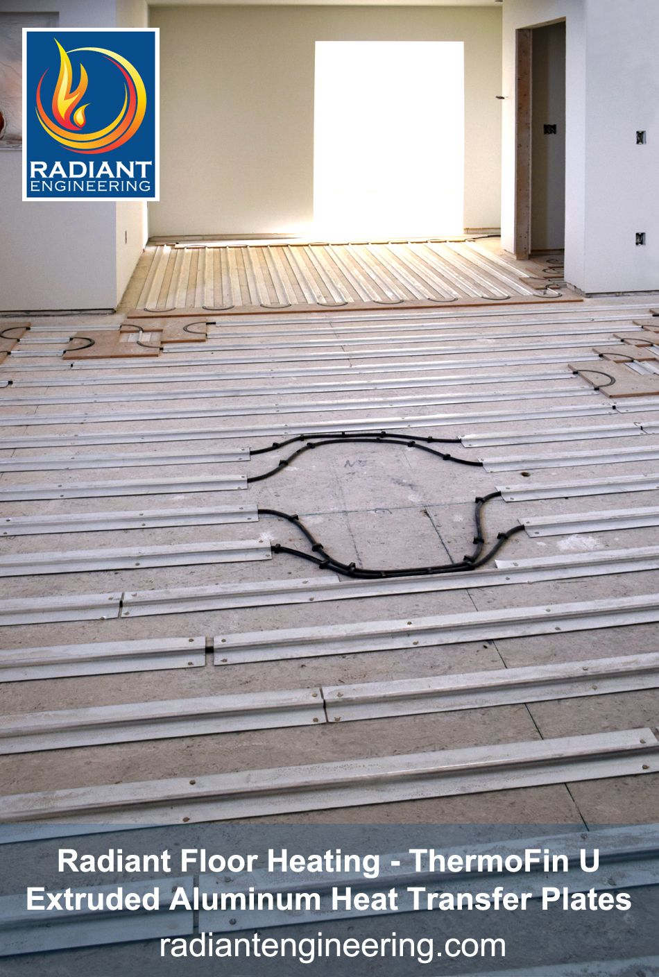 Thermofin Extruded Aluminum Heat Transfer Plates In This Photo Are Installed A Kitchen That Will Have Cook Top Island