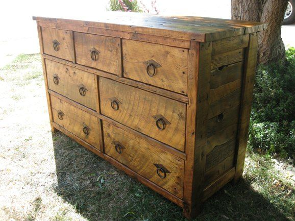 Barn Wood Dresser Must Make This The Hardware Makes It Fantastic Rustic Primitive Construction And Excellent Use For With Images Wood Dresser Barn Wood Custom Dresser