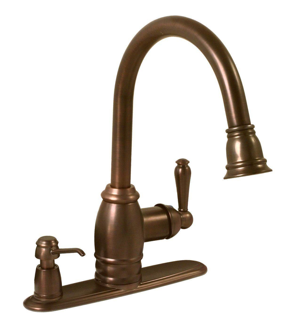 Premier 120112 Sonoma Pull Down Kitchen Faucet With Matching Soap  Dispenser, Oil Rubbed Bronze