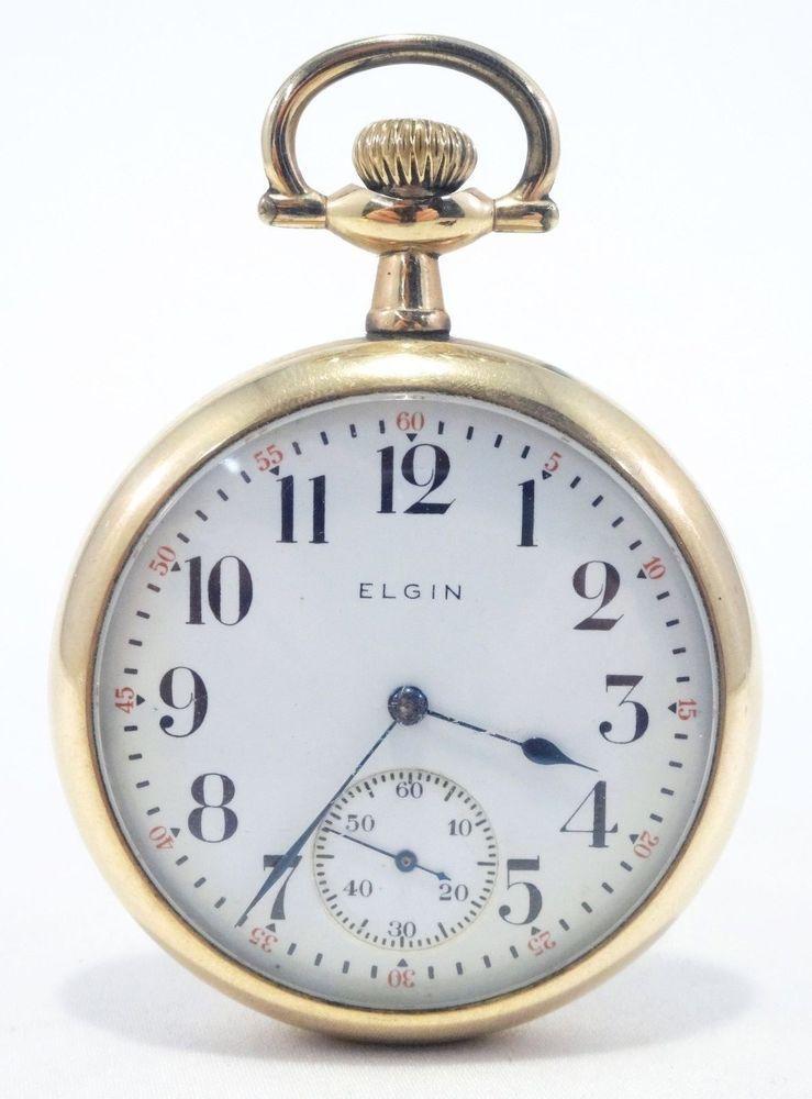 Elgin Pocket Watch Gold Filled 7 Jewel Running Pocket Watch Free