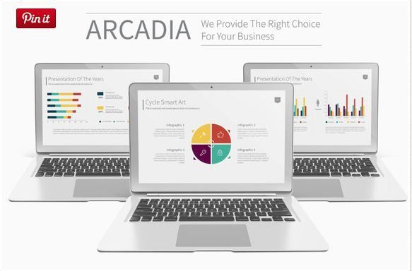 Arcadia Microsoft PowerPoint timeline template    textycafe - powerpoint timeline