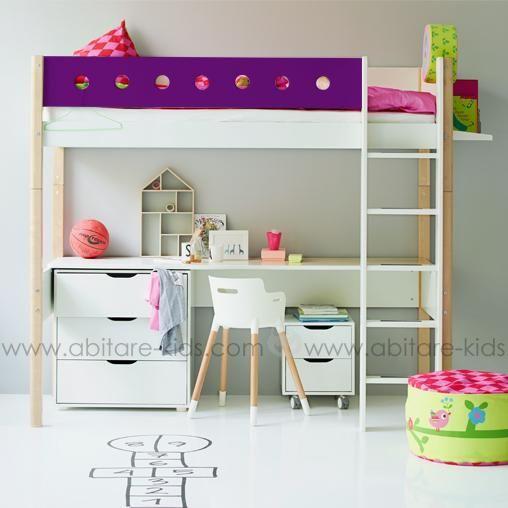 lit mezzanine flexa avec bureau lit
