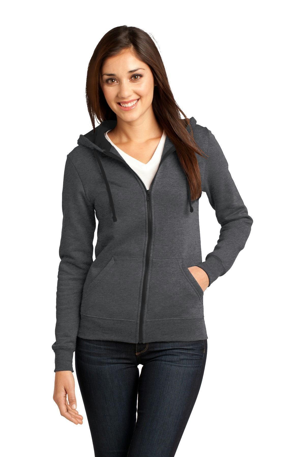 ANVIL Ladies Fashion Full Zip HOODED SWEATSHIRT Hoody in 9 Colour Choices