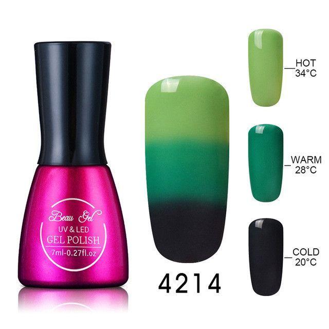 Beau Gel 7ml Gel Nail Polish Chameleon Temperature Color Changing