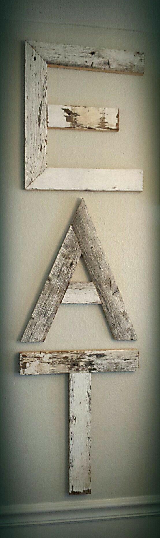 Pin de rafael garcia en letras de madera pinterest - Casa letras madera ...