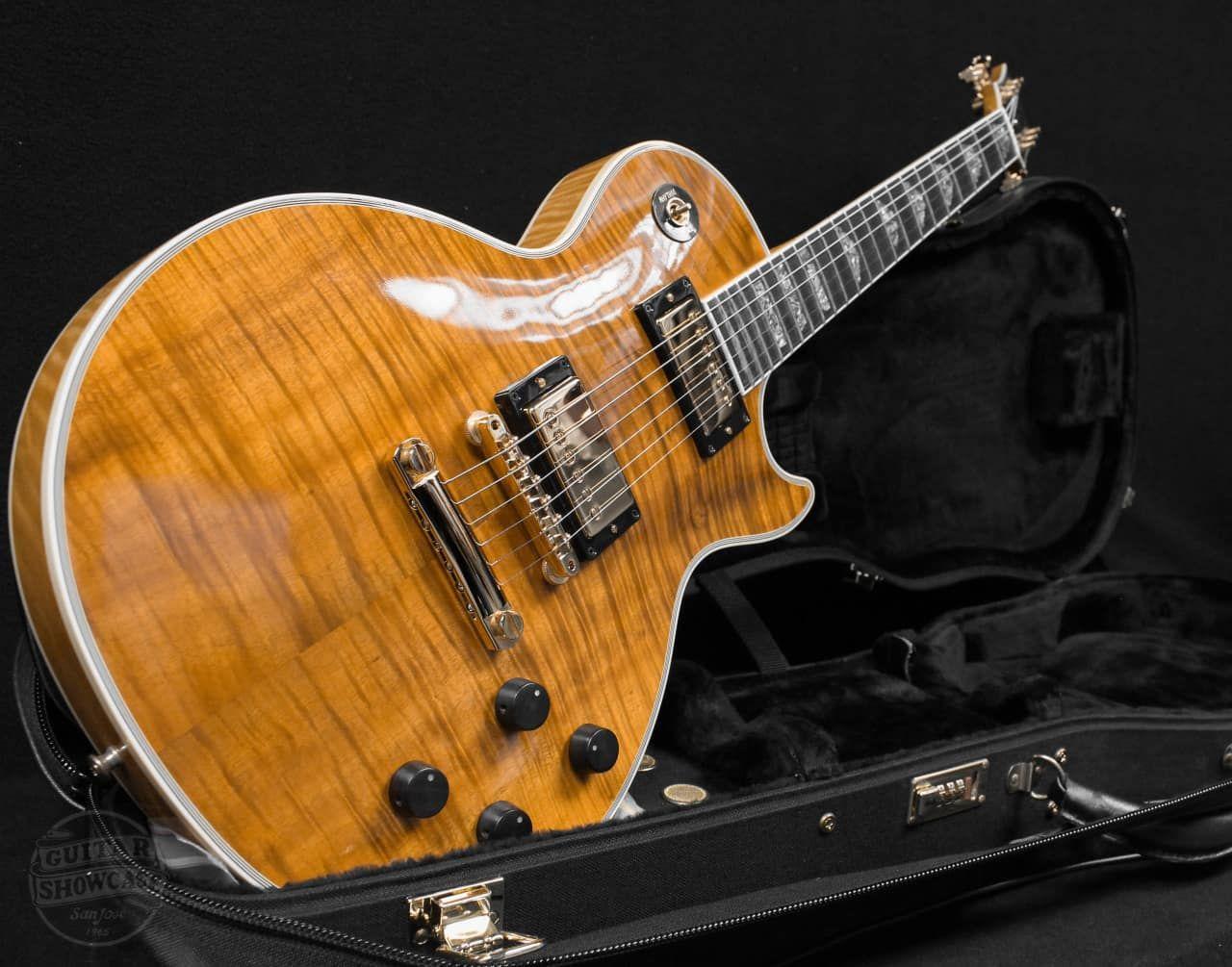 Gibson 50th Anniversary Les Paul Koa Maple Cloud Inlay Guitar Showcase Reverb Guitar Electric Guitar Gibson Guitars