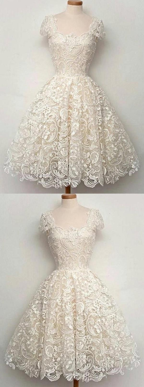 Lace short vintage aline okdr homecoming dresses