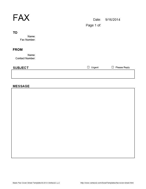 the basic fax cover sheet from vertex42 places to visit the o jays
