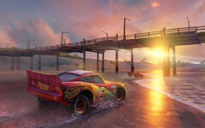 Download Wallpapers Lightning Mcqueen Cars 3 2017 Movie Driven