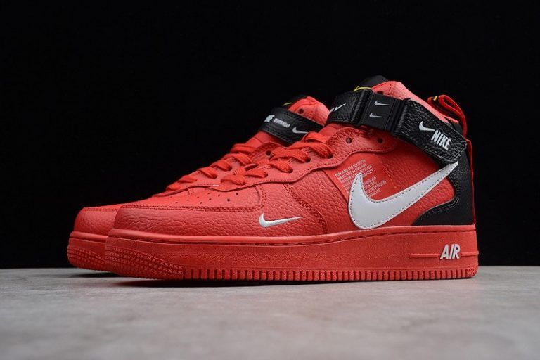 best service 1ad7a 97440 Nike Air Force 1 High 804609-105 Gym Red Black-White Resistant Breathable  Sneakers-5