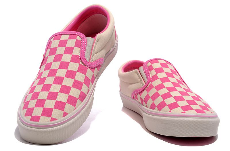 259c2550b0 ... shoes women online sale. Womens Vans Washed Checker Slip-On Pink  Vans