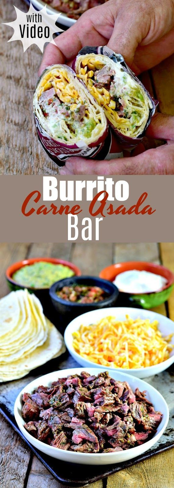 The best Carne Asada marinade recipe ever! The marinade is so full of flavor you'll never want to use anything else ever again! Make this Carne Asada Burrito Bar the center of your next party or family dinner night.  |