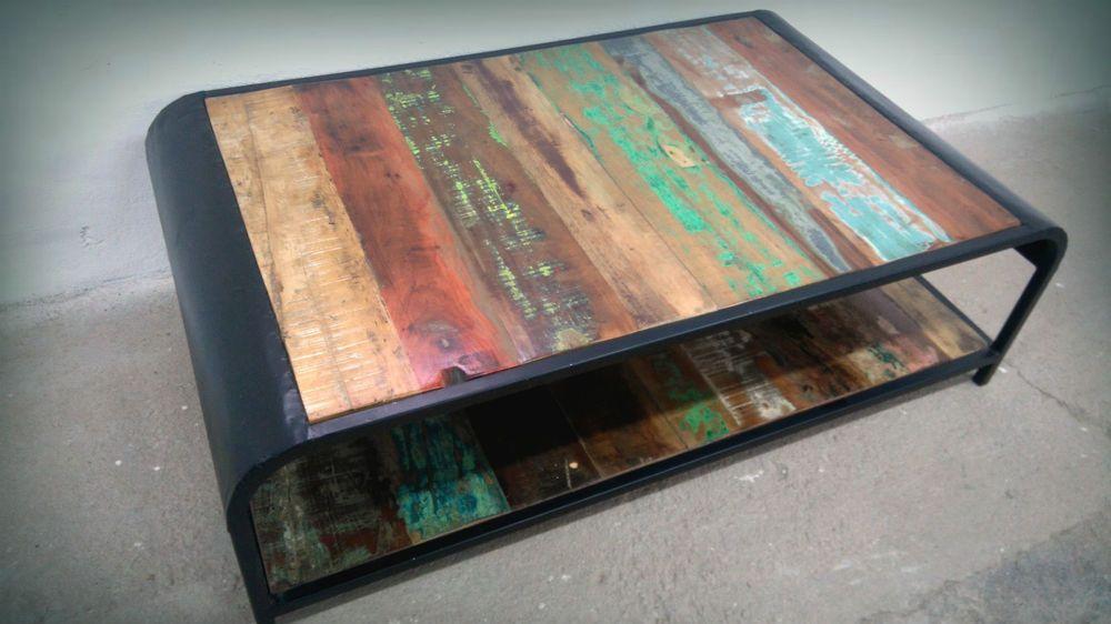 Industrial Couchtisch Sofatisch Metall Mbel Vintage Retro Tisch Wohnzimmer NEU