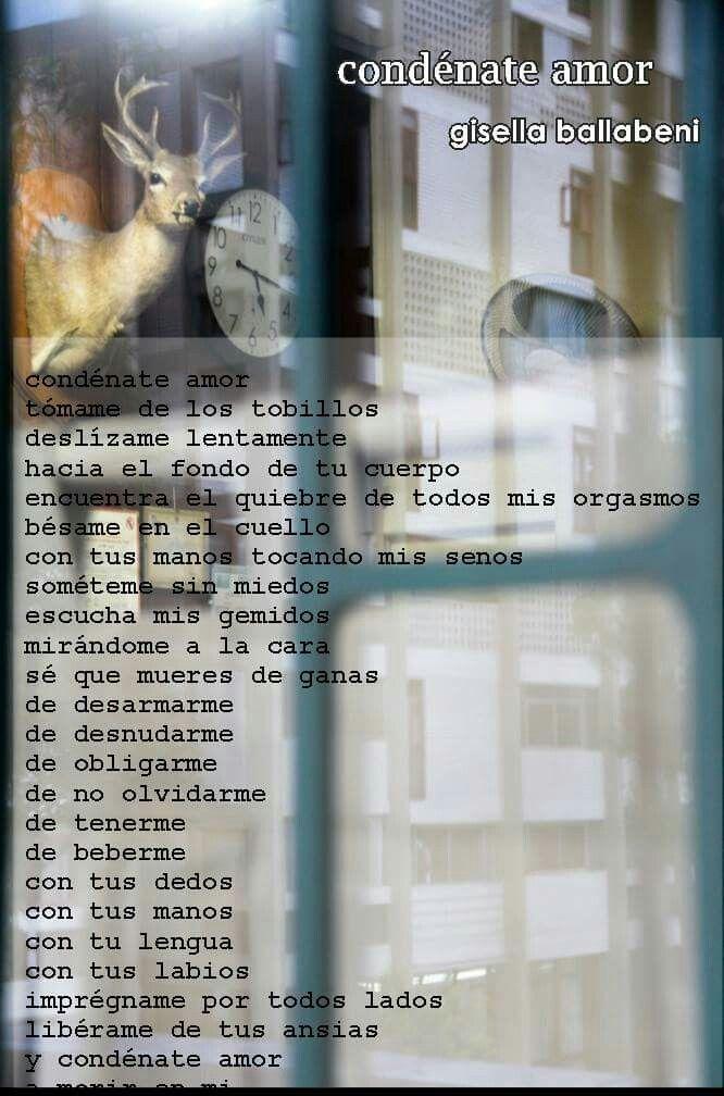 condénate amor. gisellaballabeni.wixsite.com/poemas