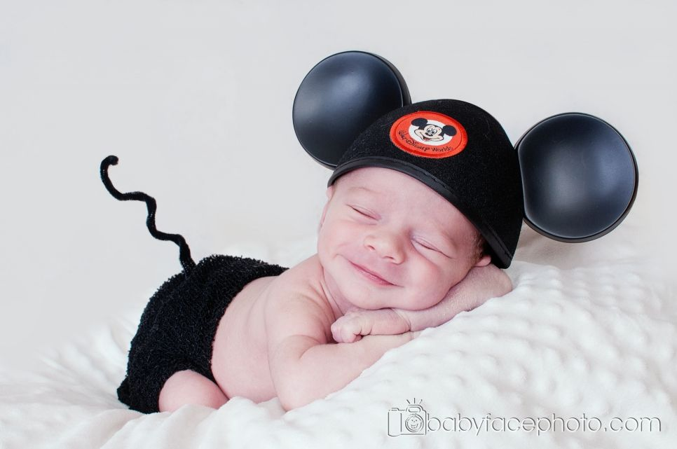 Newborn Photography - The Mickey Mouse hat belongs to Baby E #grandkidsphotography