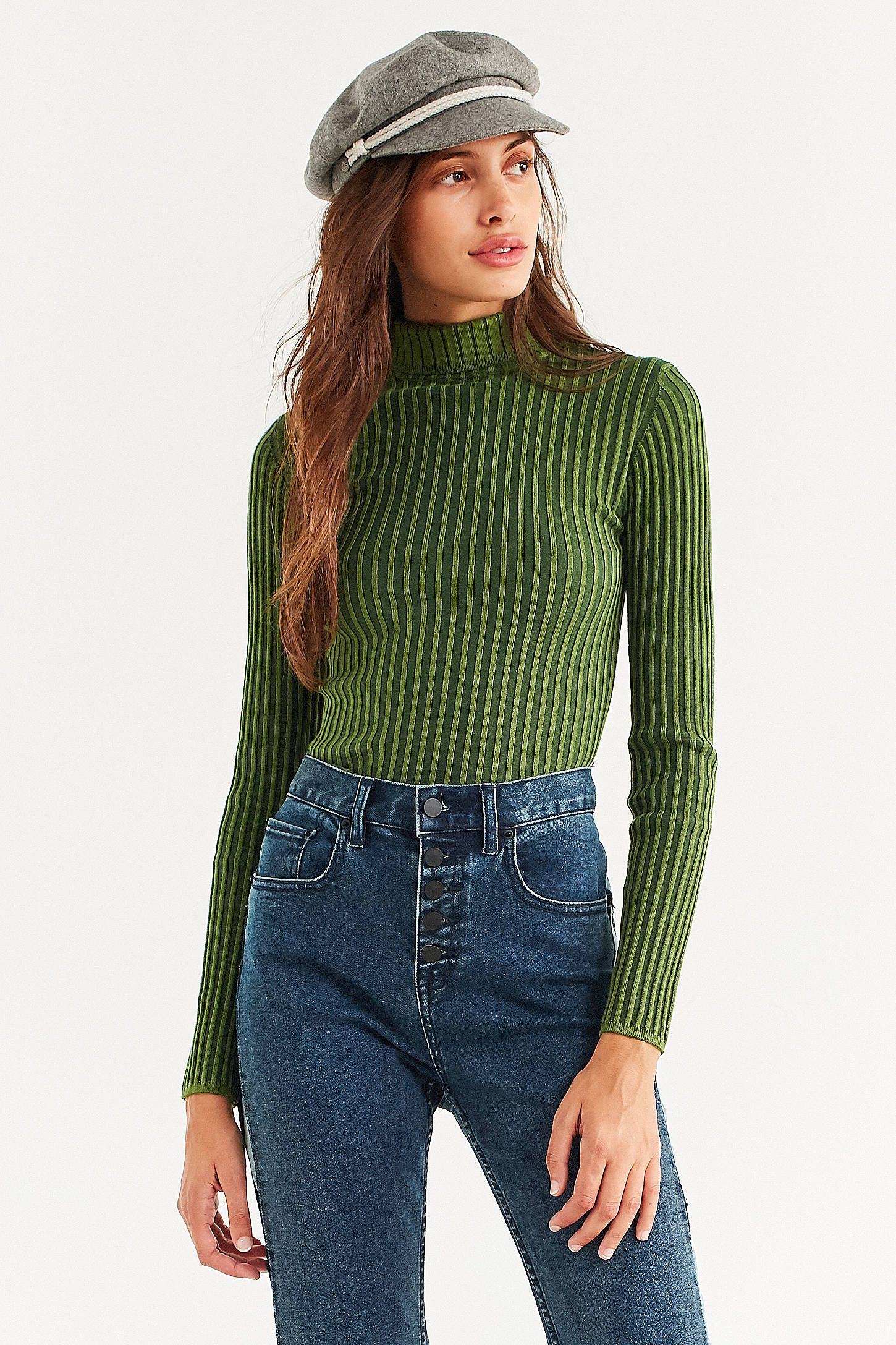 ae8192b53ea849 Shop Silence + Noise Macy Ribbed Knit Turtleneck Sweater at Urban  Outfitters today. We carry all the latest styles