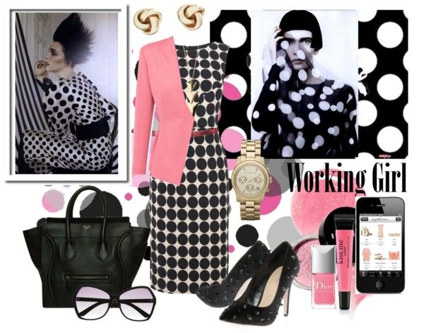 """""""Incorporate Polka Dots Into Work Wear"""" by milladeyn ❤ liked on Polyvore"""