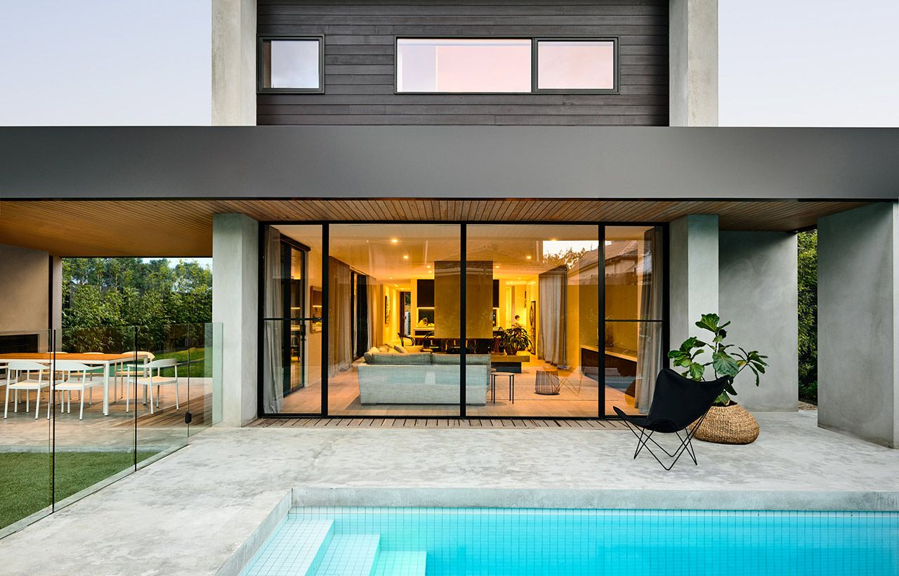Victorian house colorful interiors for a classy exterior south yarra - Location Brighton Victoria Australia This Sleek Two Storey Residential Pavilion Includes An Open Plan Living Area Study And Master Bedroom On The