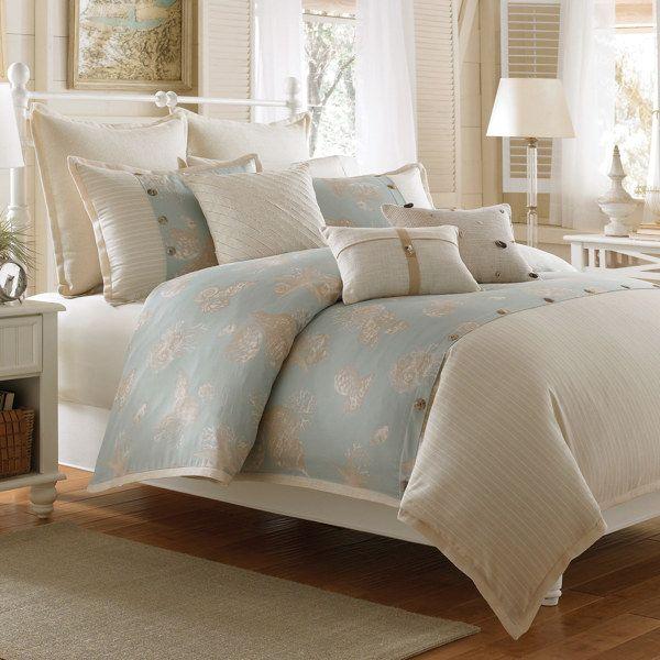 Coastal Life Luxe Seashell Duvet Cover, 100% Cotton - Bed Bath ...