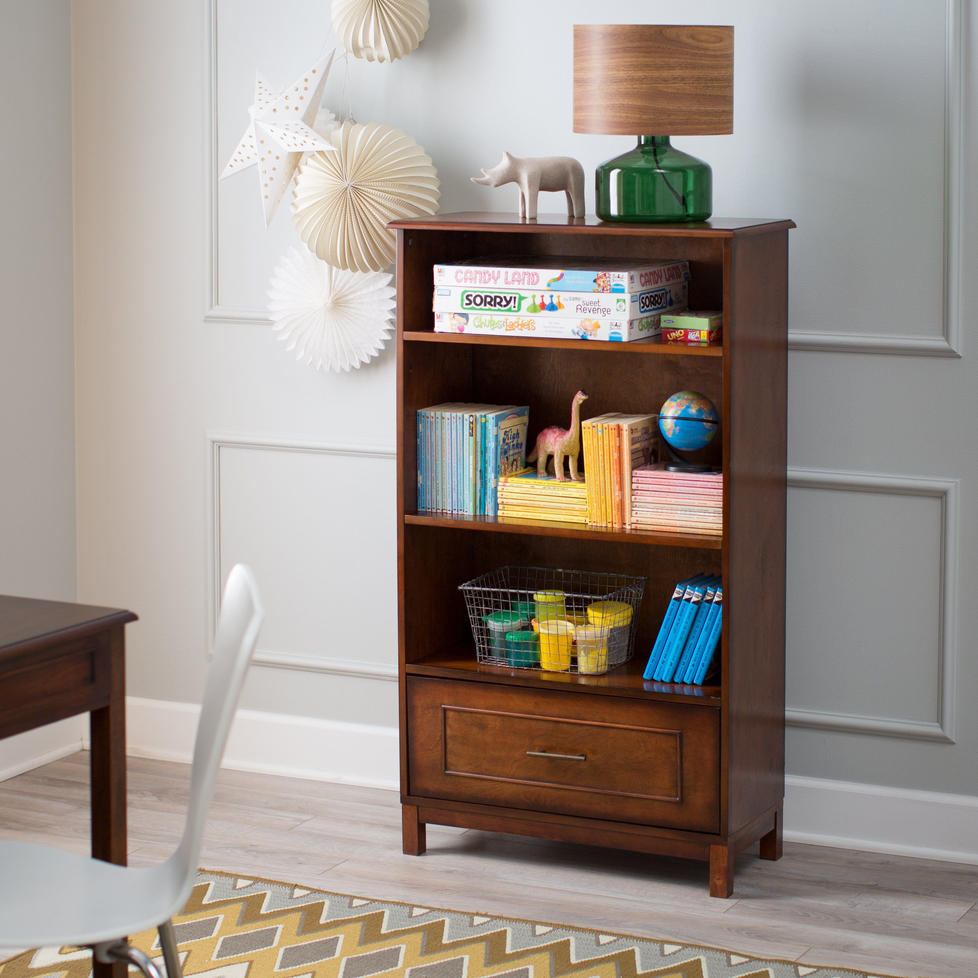 Classic Playtime Bennington Bookcase Rustic Walnut Conceal and