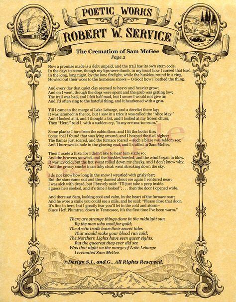 Robert W. Service | Canadian writer | Robert service poems