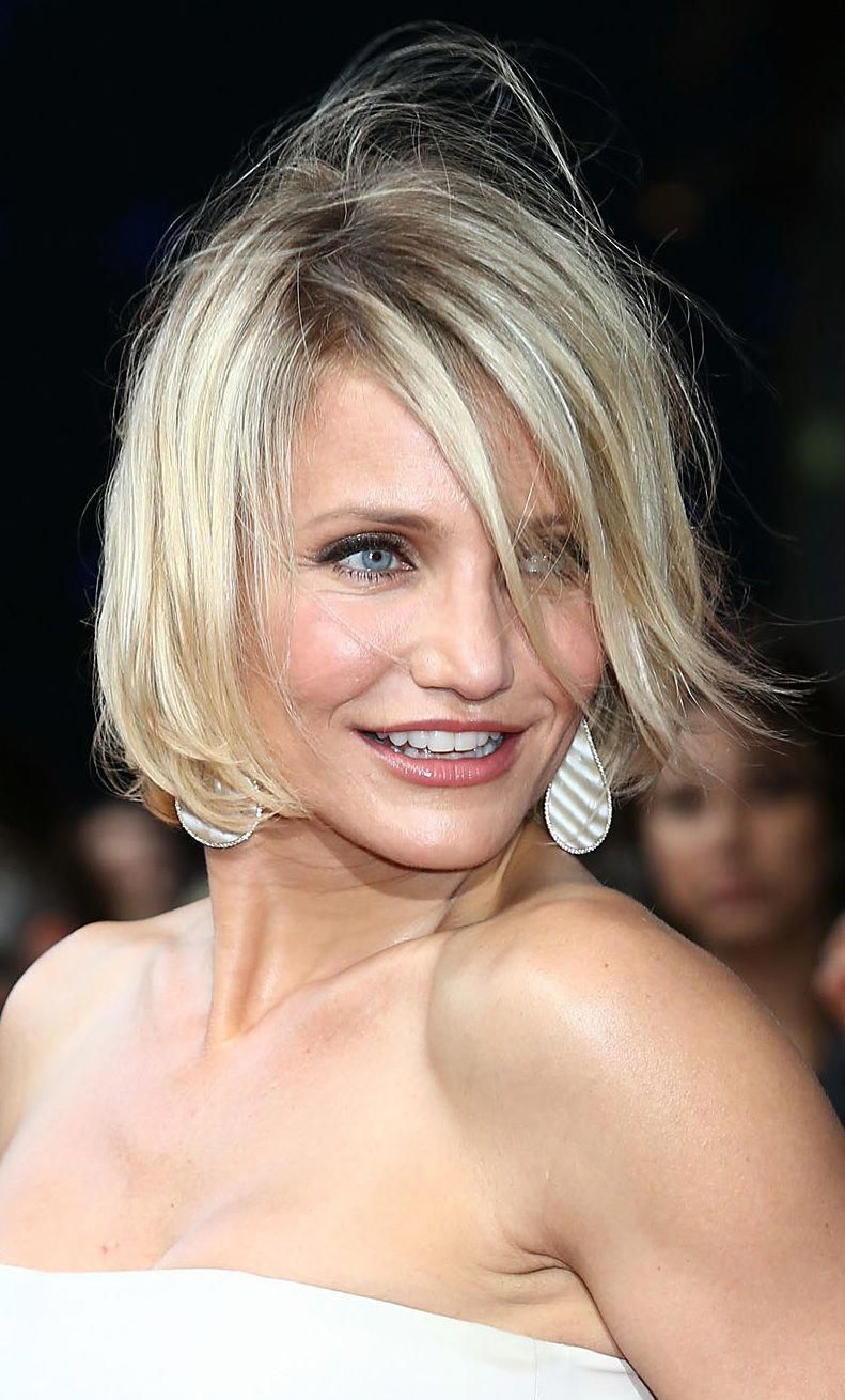 Which bob haircuts work best on various face shapes including round