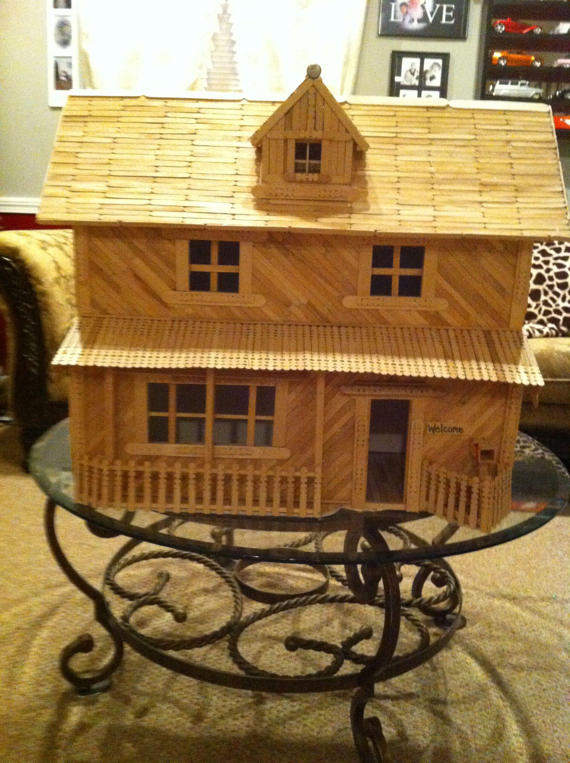 House design using popsicle sticks - Popsicle Stick House