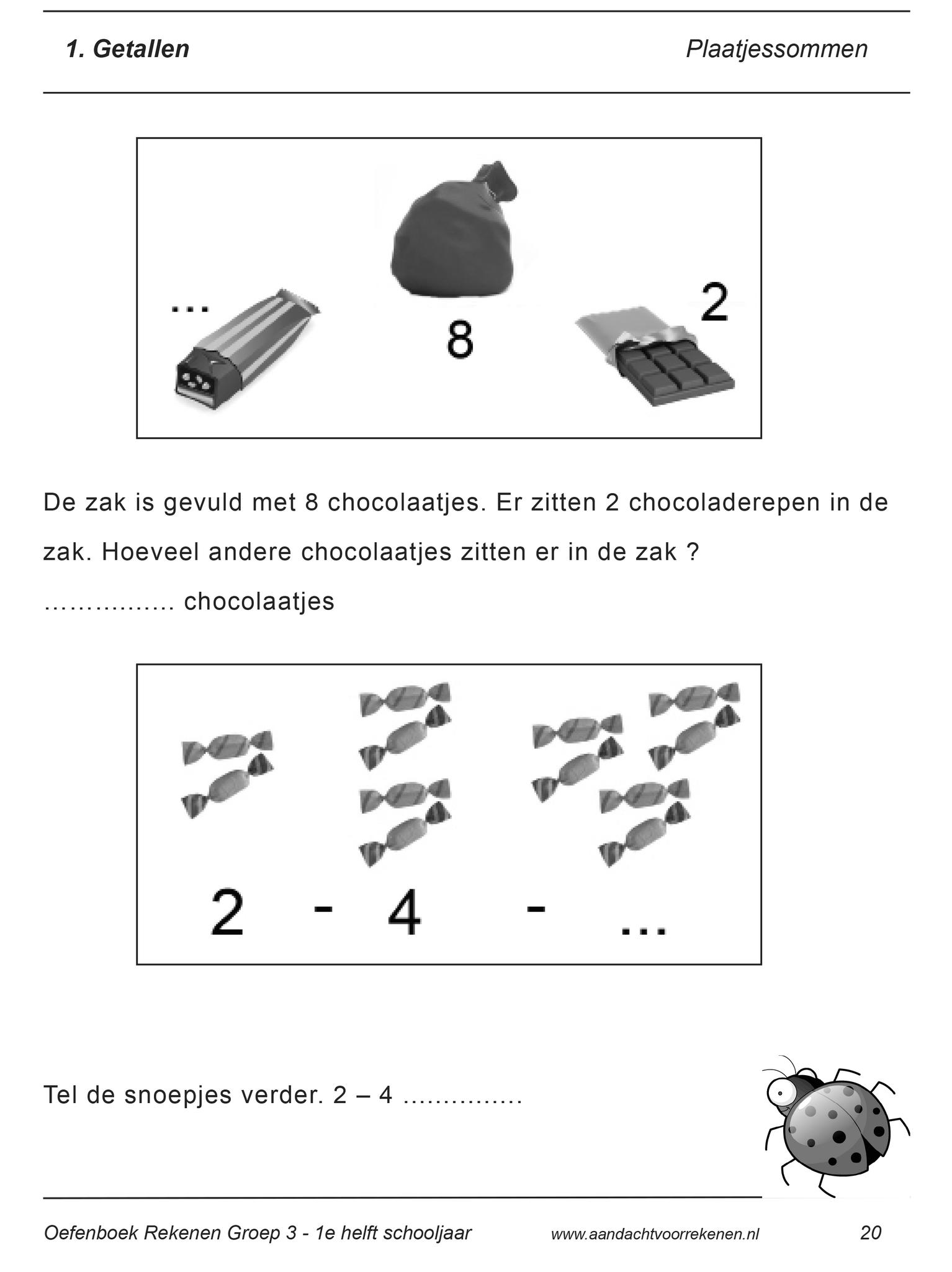 Fonkelnieuw verhaaltjessommen groep 3 rekenen - Rekenen, School en Werkbladen RG-88