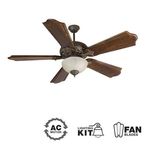 Craftmade K10323 Aged Bronze Vintage Madera Mia 56 5 Blade Indoor Ceiling Fan Home Pinterest