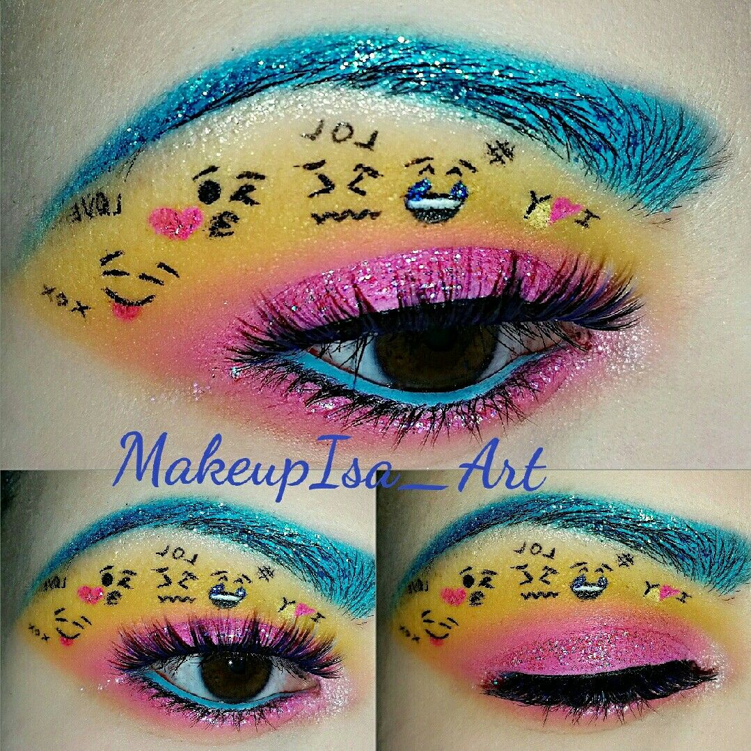 Emoji makeup suvabeauty cupcakesandmonsterspalette