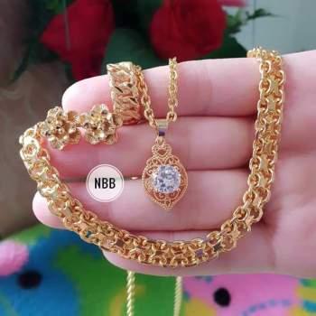 Perhiasan Emas Satu Set - Aksesoris Kita