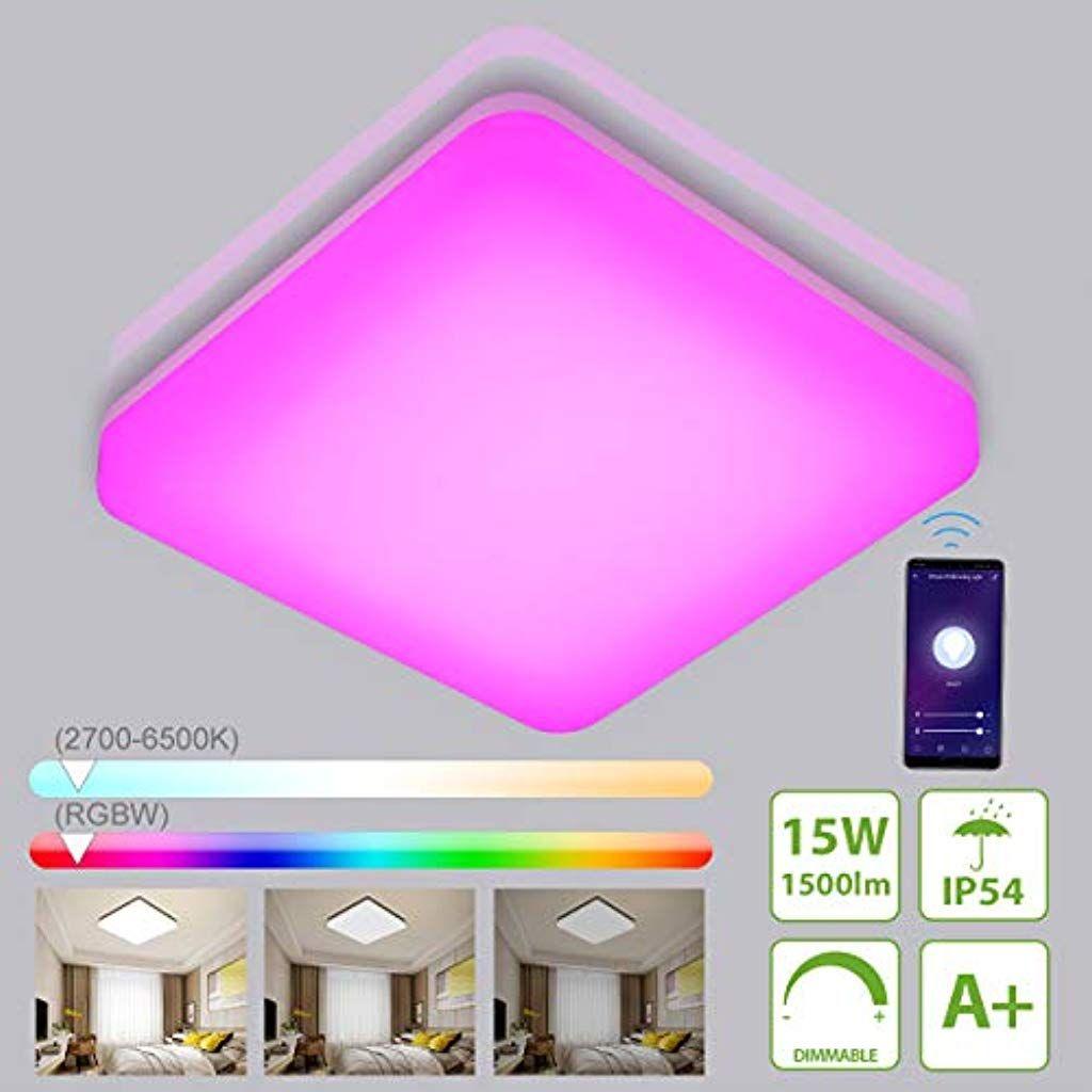 LED Deckenleuchte Sternenhimmel Deckenlampe Wohnzimmer Dimmbar 50W-60W IP44