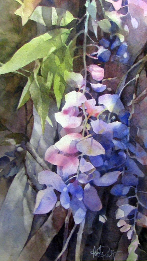 Beautiful Floral Negative Painting Watercolor Painting Lessons
