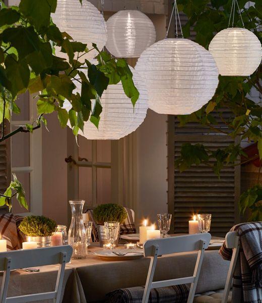 stimmungsvolle tischdeko f r abende drau en dank outdoor. Black Bedroom Furniture Sets. Home Design Ideas