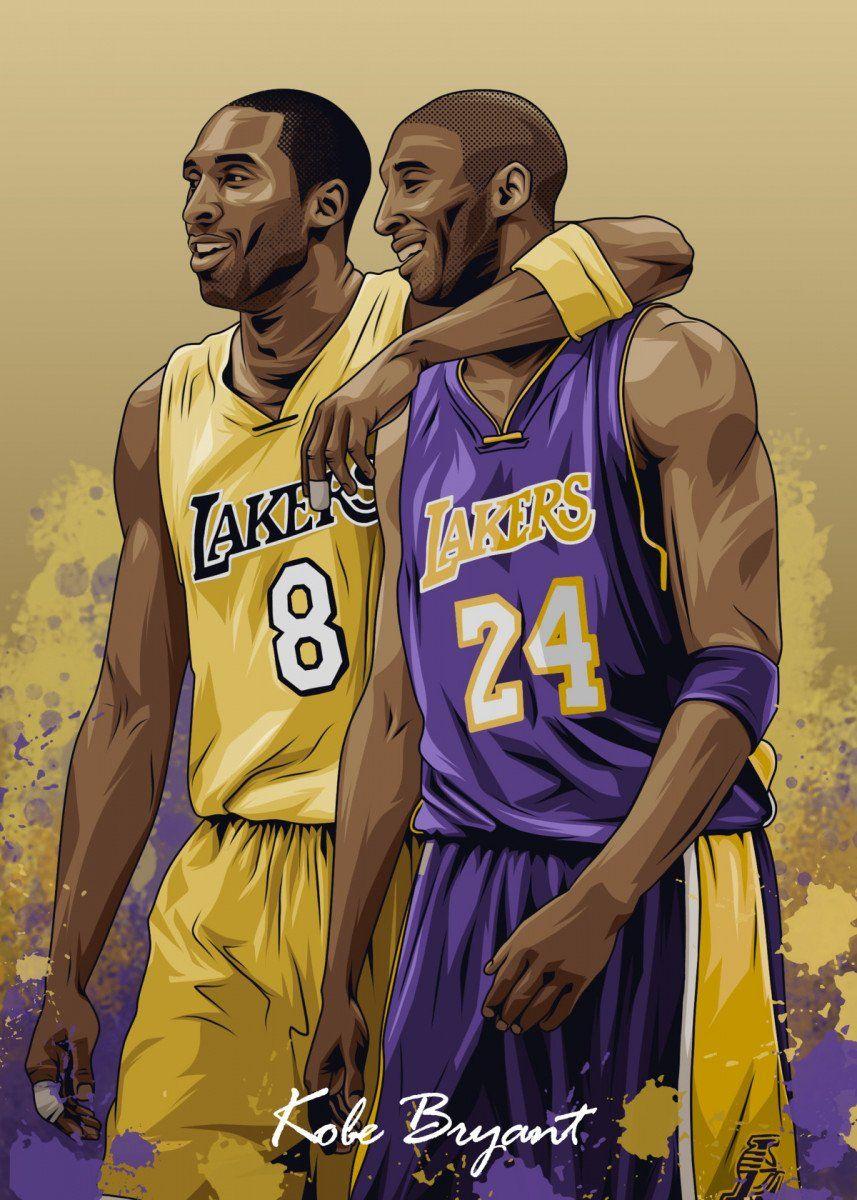 Kobe Bryant Vintage Posters Poster Print Metal Posters Displate In 2020 Kobe Bryant Poster Kobe Bryant Pictures Kobe Bryant