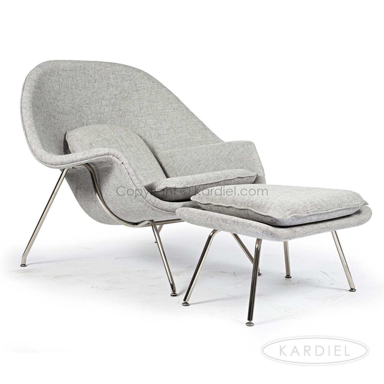 Womb Chair & Ottoman Dacite Retrospeck Twill