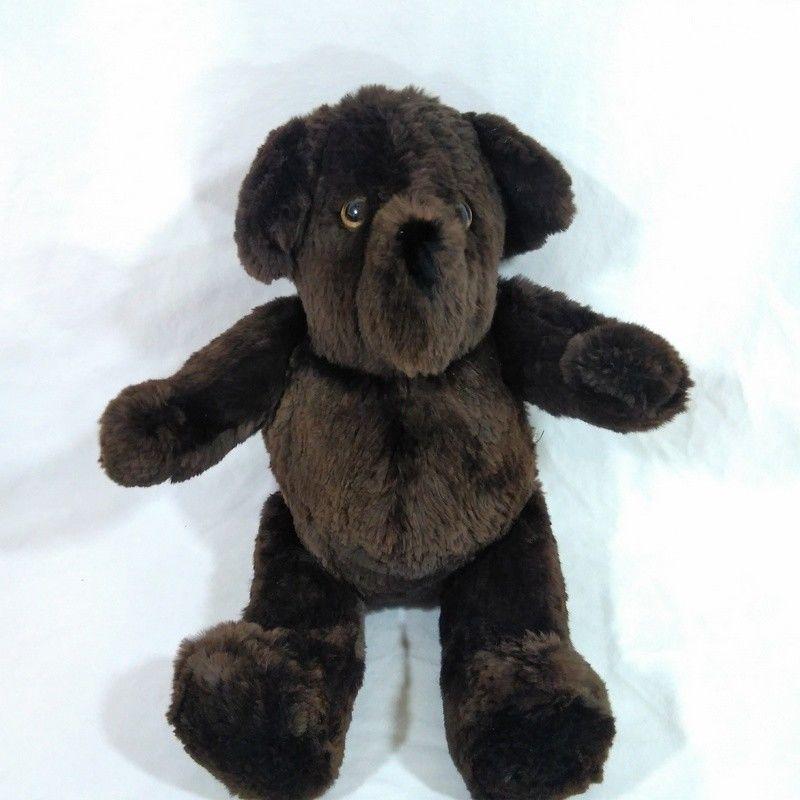990b4395524 Artist Made Real Fur Teddy Bear Teddys Fur U Dark Brown Original OOAK 17  Inch  TeddysFurU  artistmade  teddybear