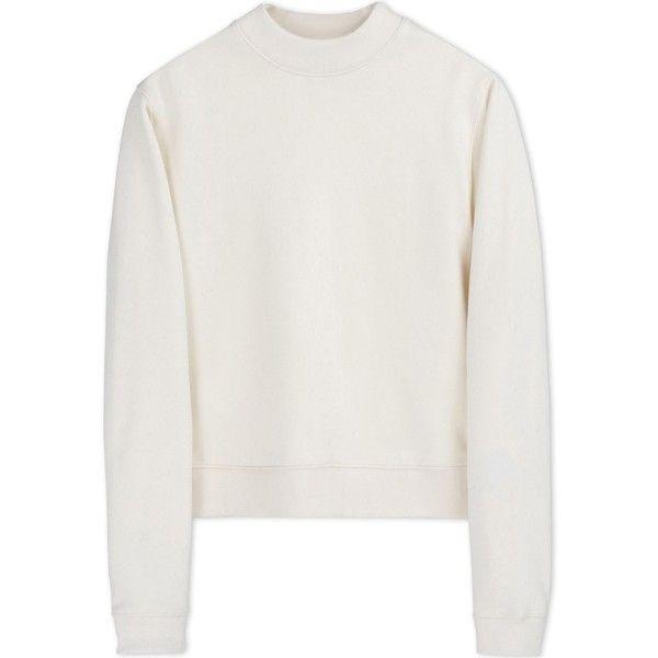 Acne Studios Sweatshirt (230 CHF) ❤ liked on Polyvore featuring tops, hoodies, sweatshirts, shirts, sweaters, ivory, ivory shirt, long sleeve shirts, zip sweatshirt e sweat shirts