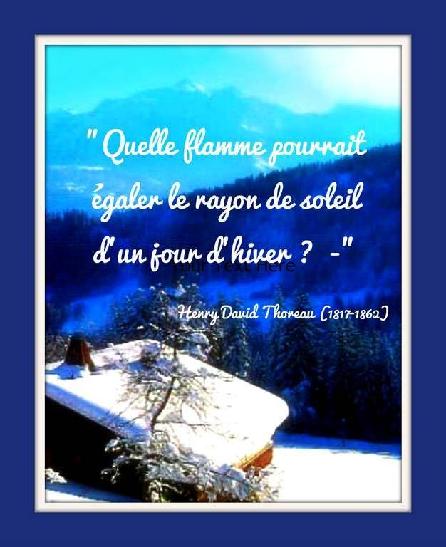 Citation Hiver De Henry David Thoreau 1817 1862