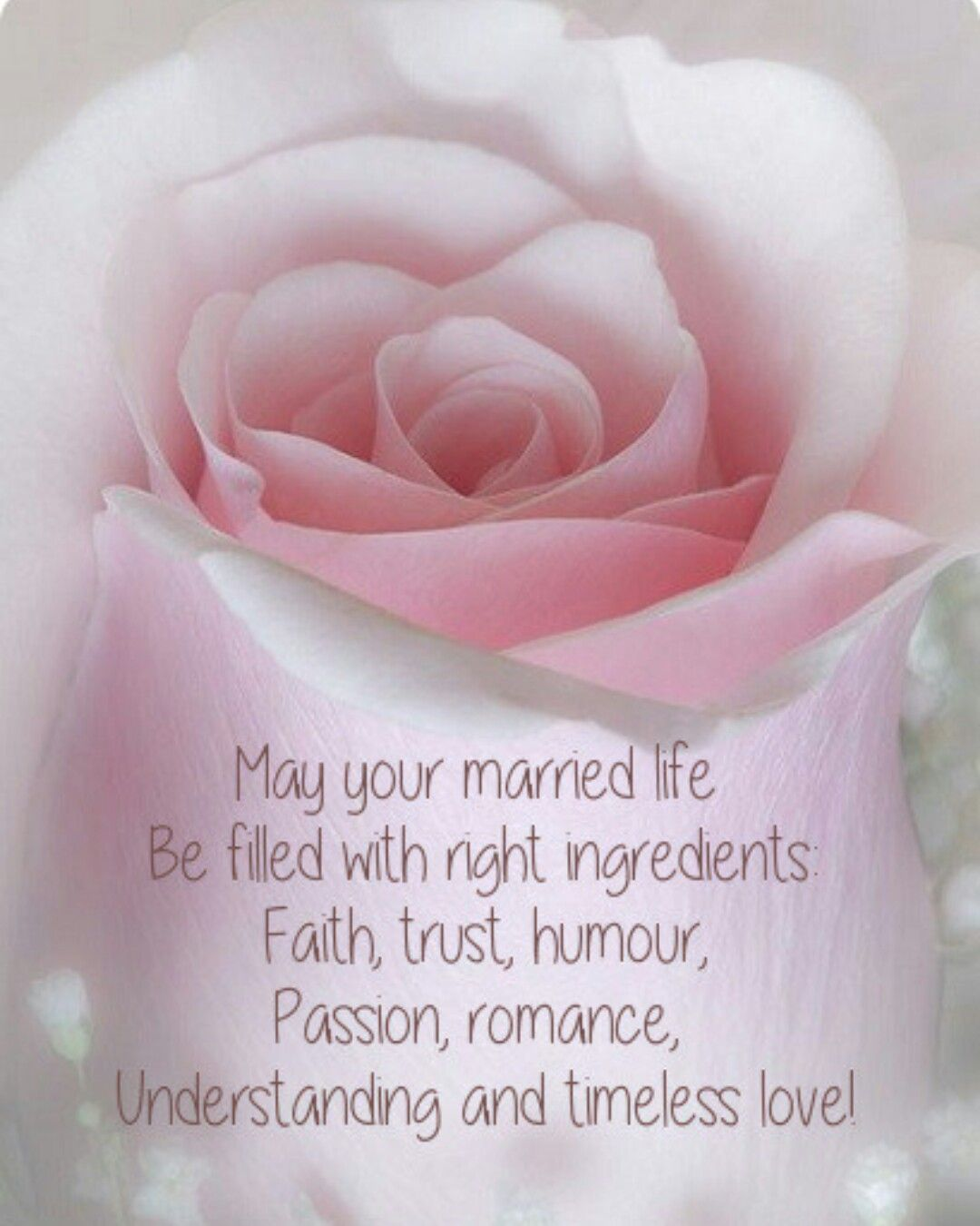 May your married life be filled with right ingredients